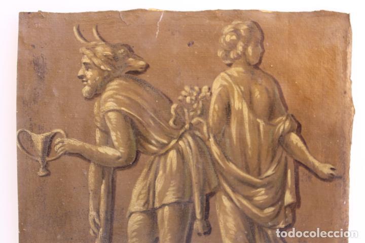 Arte: FRAGMENTO DE PINTURA AL TEMPLE 2 SOBRE PAPEL SIGLOS XIV-XV - Foto 2 - 204542893