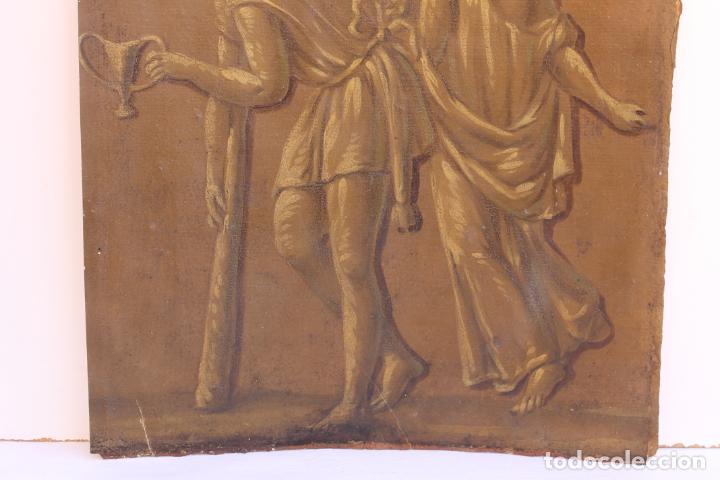 Arte: FRAGMENTO DE PINTURA AL TEMPLE 2 SOBRE PAPEL SIGLOS XIV-XV - Foto 3 - 204542893