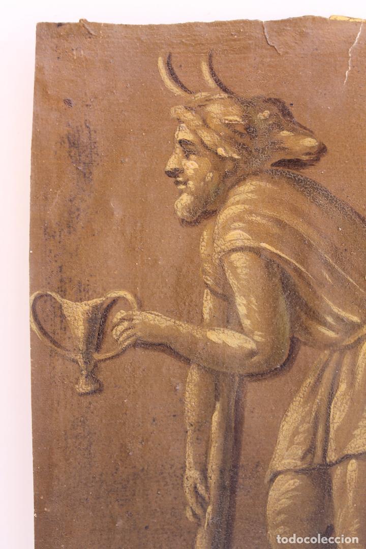 Arte: FRAGMENTO DE PINTURA AL TEMPLE 2 SOBRE PAPEL SIGLOS XIV-XV - Foto 4 - 204542893