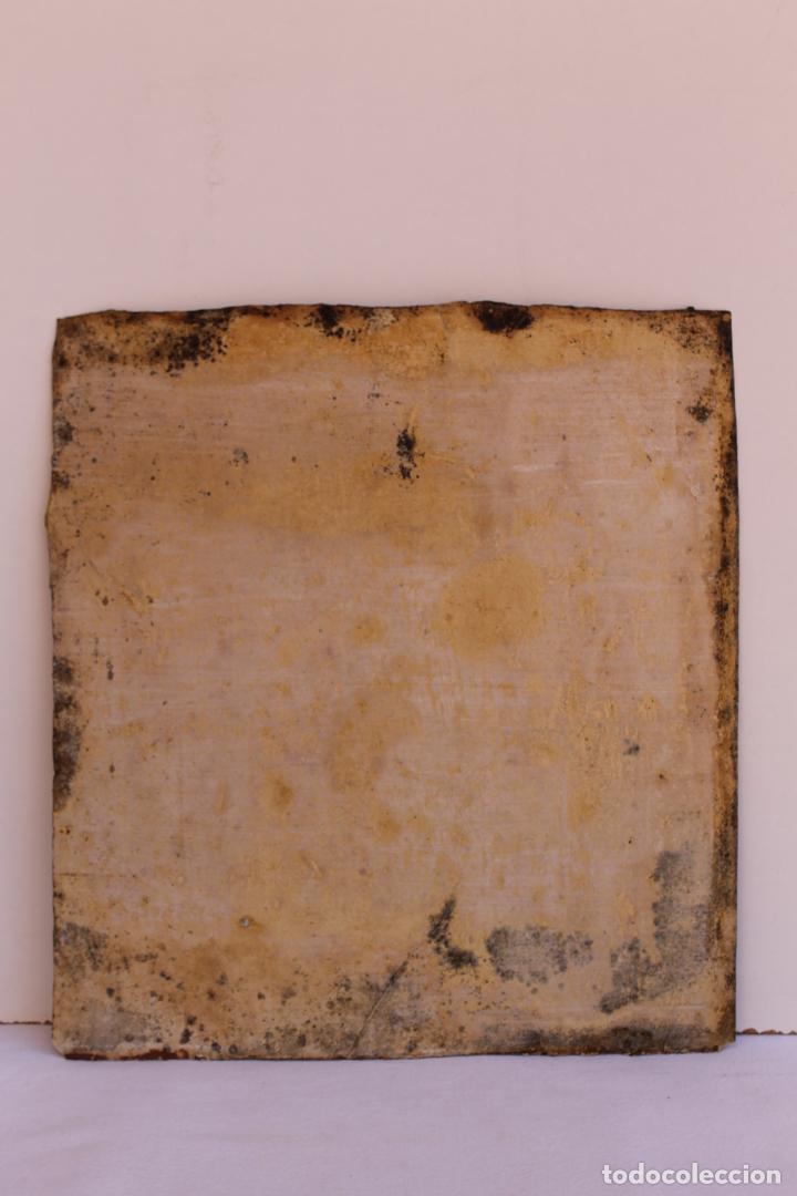 Arte: FRAGMENTO DE PINTURA AL TEMPLE 2 SOBRE PAPEL SIGLOS XIV-XV - Foto 5 - 204542893