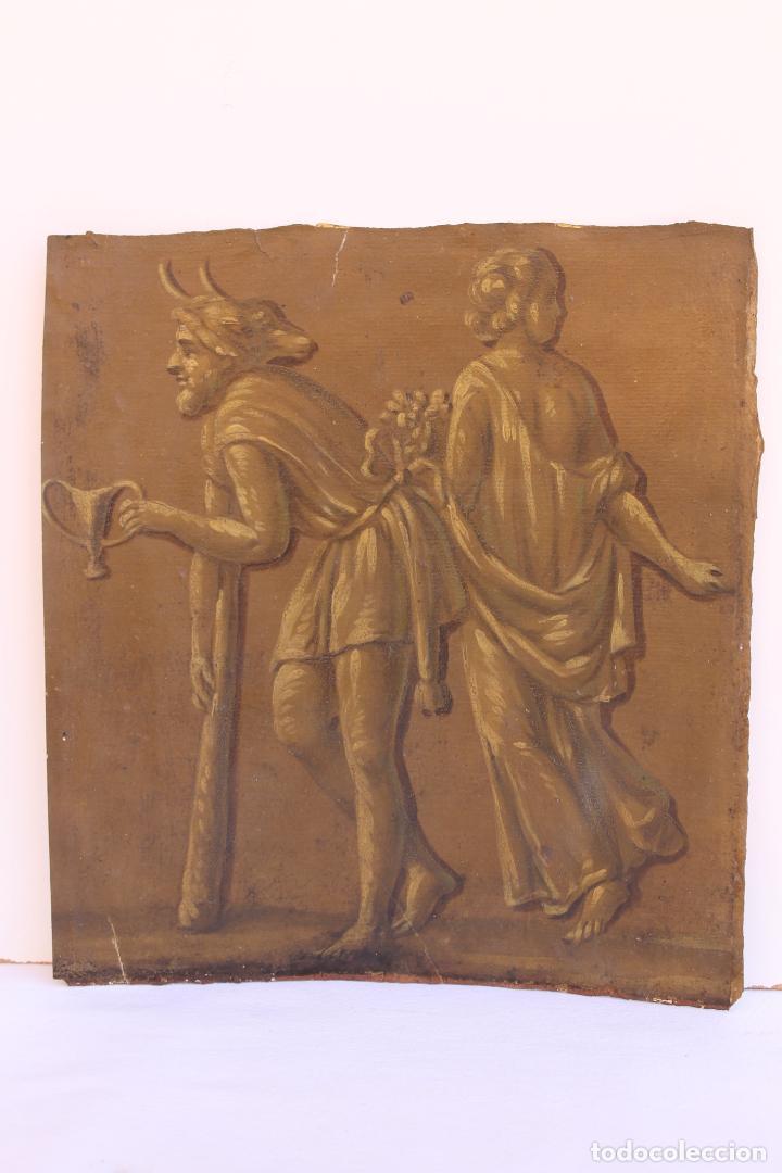 FRAGMENTO DE PINTURA AL TEMPLE 2 SOBRE PAPEL SIGLOS XIV-XV (Arte - Pintura - Pintura al Óleo Antigua siglo XV)