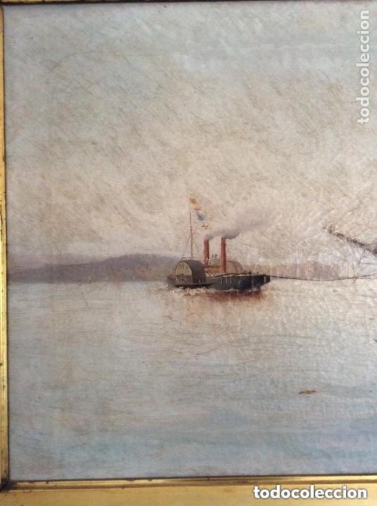 Arte: Hernández Monjo Francisco (Mahón 1862 - Barcelona 1937) óleo sobre lienzo 130x78cm - Foto 3 - 204973877