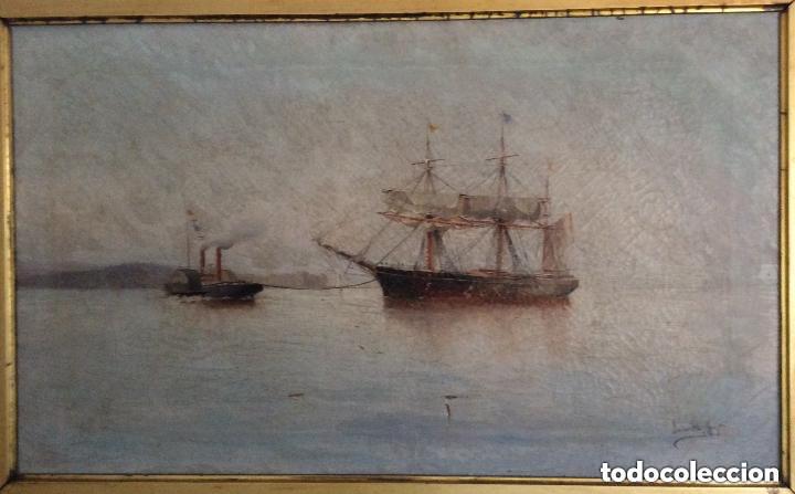 Arte: Hernández Monjo Francisco (Mahón 1862 - Barcelona 1937) óleo sobre lienzo 130x78cm - Foto 4 - 204973877