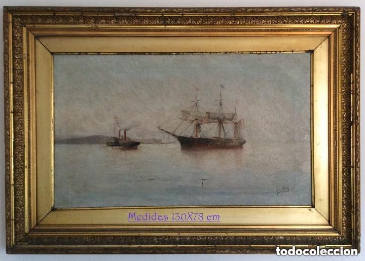 HERNÁNDEZ MONJO FRANCISCO (MAHÓN 1862 - BARCELONA 1937) ÓLEO SOBRE LIENZO 130X78CM (Arte - Pintura - Pintura al Óleo Moderna siglo XIX)