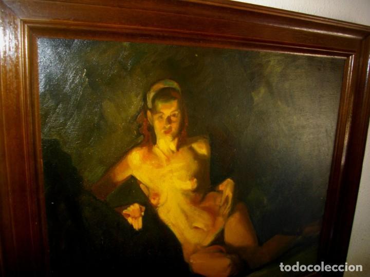 Arte: seguidor de CELEDONIO PERELLON ( OLEO SOBRE LIENZO 72 X 54 CTMS) CON MARCO - Foto 8 - 205000447