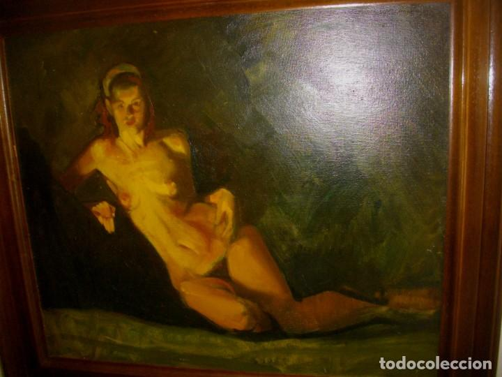 Arte: seguidor de CELEDONIO PERELLON ( OLEO SOBRE LIENZO 72 X 54 CTMS) CON MARCO - Foto 10 - 205000447