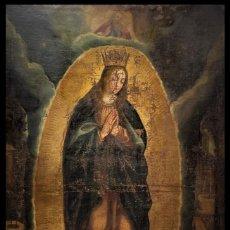 """Arte: ESCUELA VALENCIANA (FINALES DEL SIGLO XVI) - PREFIGURACIÓN DE MARÍA INMACULADA (""""MARIA TOTA PULCHRA"""". Lote 205022552"""