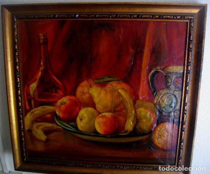 TERESA PASCUAL AÑO 1914- 1995 TURIS ( OLEO SOBRE LIENZO ) 63 X 59 CTMS REENTELADO (Arte - Pintura - Pintura al Óleo Moderna sin fecha definida)