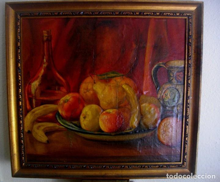 Arte: TERESA PASCUAL AÑO 1914- 1995 TURIS ( OLEO SOBRE LIENZO ) 63 X 59 CTMS REENTELADO - Foto 2 - 205042056
