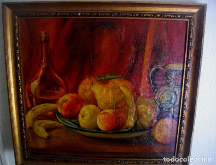 Arte: TERESA PASCUAL AÑO 1914- 1995 TURIS ( OLEO SOBRE LIENZO ) 63 X 59 CTMS REENTELADO - Foto 4 - 205042056