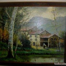 Arte: OLEO SOBRE LIENZO/BASTIDOR FIRMADO MONTES VALENCIA -( 53 X 61 CTMS ) CON MARCO. Lote 205102887