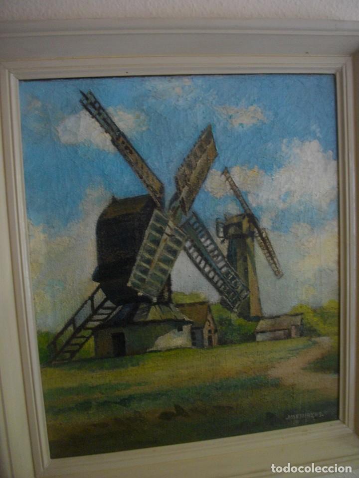 Arte: OLEO SOBRE LIENZO FIRMA AM. FRURENS ((ADQUIRIDO EN PARIS (( 87 X 58 CTMS CON MARCO))AÑOS 1870 - Foto 6 - 205143792