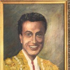Arte: PINTURA OLEO CUADRO TORERO AÑOS 50 FIRMADO A.M. TOROS BAR PASTRANO BARCELONA MUSEO TAURINO DECORACIO. Lote 205165887