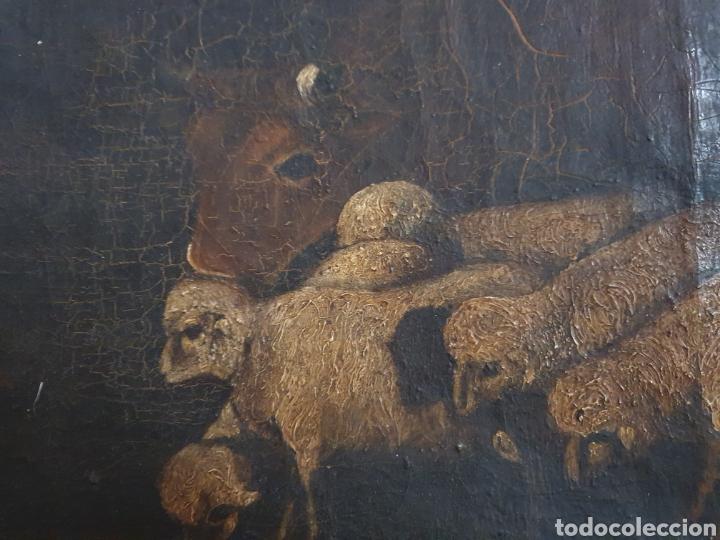 Arte: INTERESANTISIMO CUADRO COSTUNBRISTA S.XVII-XVIII - Foto 2 - 159652044