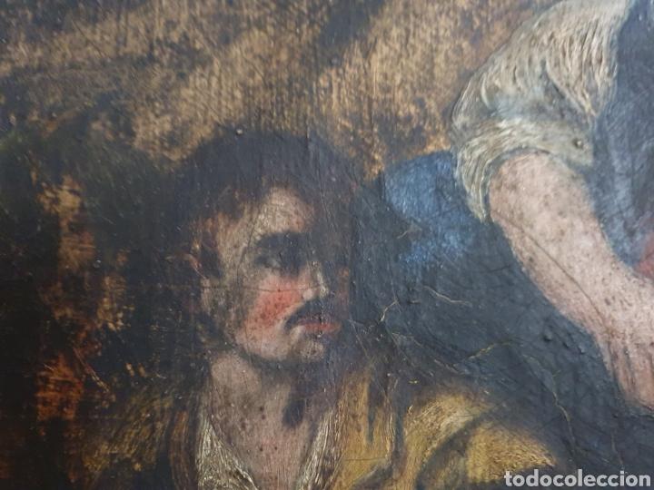 Arte: INTERESANTISIMO CUADRO COSTUNBRISTA S.XVII-XVIII - Foto 5 - 159652044