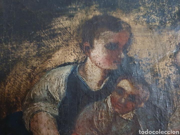 Arte: INTERESANTISIMO CUADRO COSTUNBRISTA S.XVII-XVIII - Foto 6 - 159652044