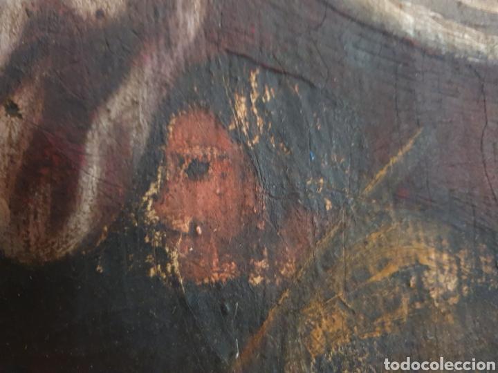 Arte: INTERESANTISIMO CUADRO COSTUNBRISTA S.XVII-XVIII - Foto 9 - 159652044