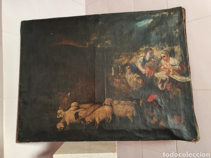 INTERESANTISIMO CUADRO COSTUNBRISTA S.XVII-XVIII (Arte - Pintura - Pintura al Óleo Antigua siglo XVII)