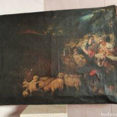 Arte: INTERESANTISIMO CUADRO COSTUNBRISTA S.XVII-XVIII. Lote 159652044