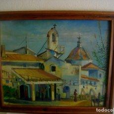 Arte: OLEO SOBRE LIENZO FIRMADO E. TOMAS 1997 ( 66 X 56 CTMS CON MARCO )) ERMITA DE ALBORAYA. Lote 205181970
