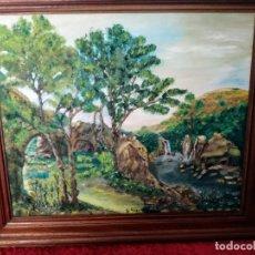 Arte: CUADRO ANTIGUO, PAISAJE, FIRMADO. Lote 205190625