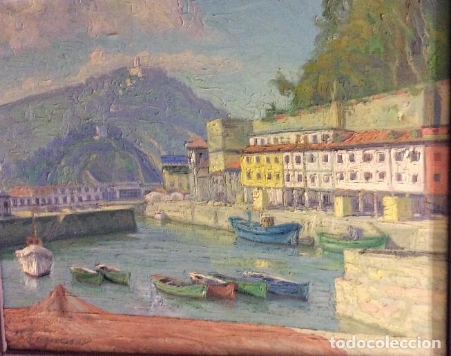 FELIPE EMPERADOR -PUERTO DE SAN SEBASTIÁN,ÓLEO SOBRE LIENZO ,FIRMADO 100X83CM (Arte - Pintura - Pintura al Óleo Moderna siglo XIX)