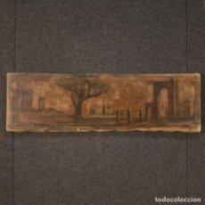 Arte: PINTURA AL ÓLEO ITALIANA SOBRE LIENZO PAISAJE CON ARQUITECTURA DEL SIGLO XIX. Lote 205234473