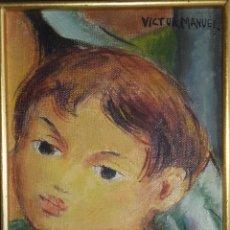 Arte: NIÑO. ÓLEO SOBRE LIENZO. VÍCTOR MANUEL GARCÍA. VANGUARDIA PINTURA CUBANA. FIRMADO. AÑOS 1960.. Lote 205249193