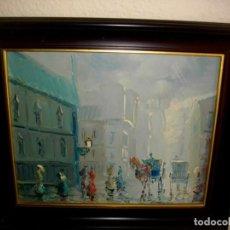 Arte: OLEO IMPRESIONISTA FIRMADO RODS 1976 (( 37 X 31 CTMS CON MARCO ) COMPRADA EN PARIS ESE MISMO AÑO. Lote 205249878