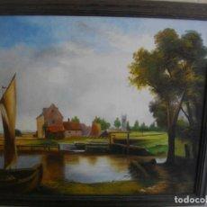 Arte: OLEO IMPRESIONISTA FIRMADO S. ROCA (( 62 X 54 CTMS CON MARCO ) INCLUIDO. Lote 205250290