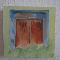 Arte: DIPTICO VENTANA Y COLIBRI OLEOS SOBRE LIENZO CON FIRMA. Lote 205258073