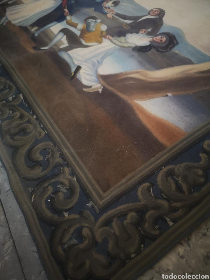 Arte: La gallina ciega copia de Francisco de Goya, antiguo tapiz 135x90cm - Foto 4 - 205265415