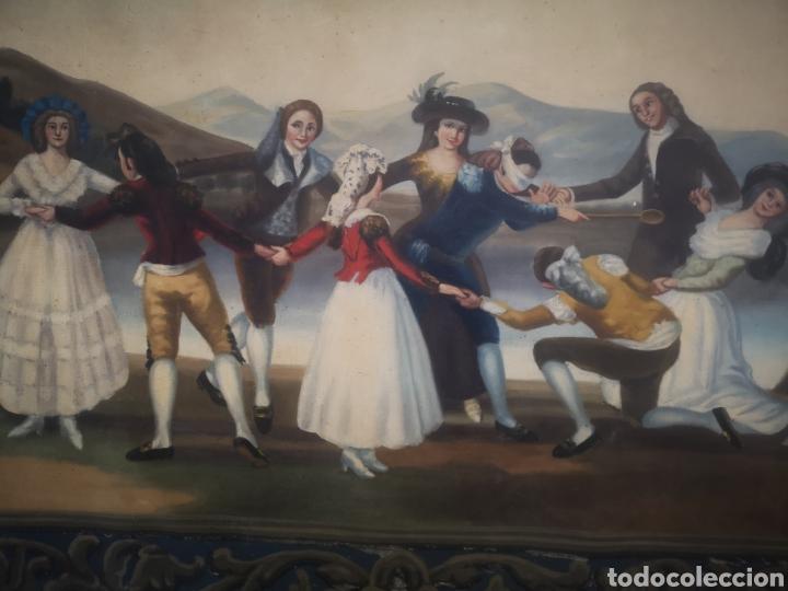 LA GALLINA CIEGA COPIA DE FRANCISCO DE GOYA, ANTIGUO TAPIZ 135X90CM (Arte - Pintura - Pintura al Óleo Antigua sin fecha definida)