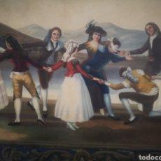 Arte: LA GALLINA CIEGA COPIA DE FRANCISCO DE GOYA, ANTIGUO TAPIZ 135X90CM. Lote 205265415