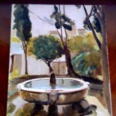 Art: ESPLENDIDO OLEO SOBRE CARTON PATIO DE SEVILLA. FIRMADO Y FECHADO. A.DELPACH.1967. EN PERFECTO ESTADO. Lote 205276847