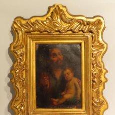 Arte: ÓLEO SOBRE COBRE SAN JOSÉ CON NIÑO JESÚS ESCUELA MEXICANA SIGLO XVIII. Lote 205294152