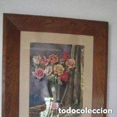 Arte: PINTURA DE GABRIEL TORCAL CON FIRMA Y MARCO MADERA NOBLE 1954 DE 60 X 72 CM.. Lote 205306923