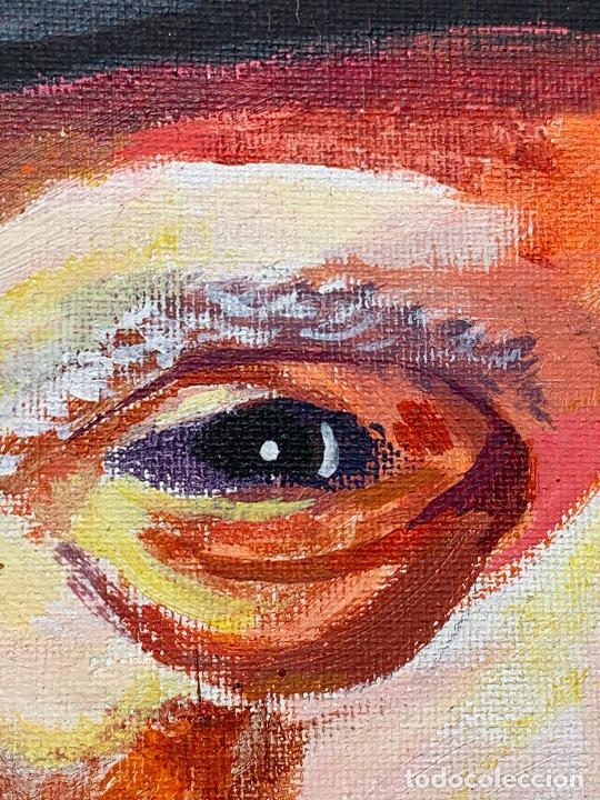 Arte: Extraordinario retrato de SALVADOR DALÍ, de Joan Gelabert (Dalí Junior), oleo sobre lienzo.Original. - Foto 6 - 205371120