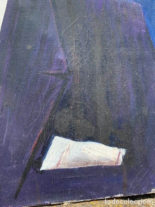 Arte: Extraordinario retrato de SALVADOR DALÍ, de Joan Gelabert (Dalí Junior), oleo sobre lienzo.Original. - Foto 11 - 205371120