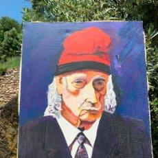 Arte: EXTRAORDINARIO RETRATO DE SALVADOR DALÍ, DE JOAN GELABERT (DALÍ JUNIOR), OLEO SOBRE LIENZO.ORIGINAL.. Lote 205371120