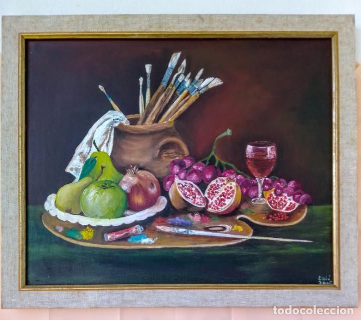 """CUADRO PINTADO AL ÓLEO - """"FRUTA DEL PINTOR """" - BASTIDOR SOBRE LIENZO - MEDIDAS 41X33 CM. (Arte - Pintura - Pintura al Óleo Contemporánea )"""
