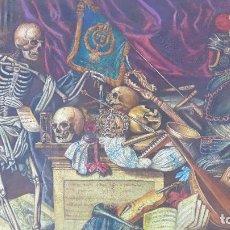 Arte: MUY RARA ANTIGUA PINTURA FIN DEL XVIII PRINCIPIOS XIX,TEMA LA MUERTE,BUENA MANO Y TAMAÑO. Lote 205389768