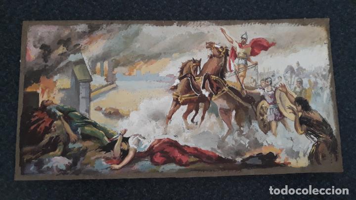 TEMPERA SOBRE CARTIN SIGLO XIX (Arte - Pintura - Pintura al Óleo Antigua sin fecha definida)