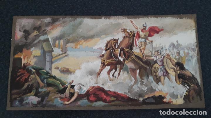 Arte: tempera sobre cartin siglo xix - Foto 2 - 205468501