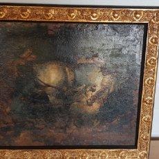 Arte: CUADRO SIGLO XVII A XVIII CABALLO CURA Y CAMPESINO. Lote 205564460