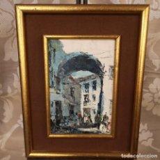 Arte: PAISAJE DE PUEBLO. Lote 205572991