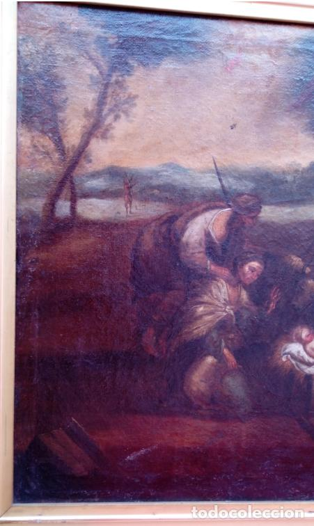 Arte: ÓLEO S/LIENZO ENMARCADO DE ÉPOCA -ADORACIÓN DE LOS PASTORES-. S. XVII -ESC. ITALIANA-. 98.5X79 CMS - Foto 3 - 164860898
