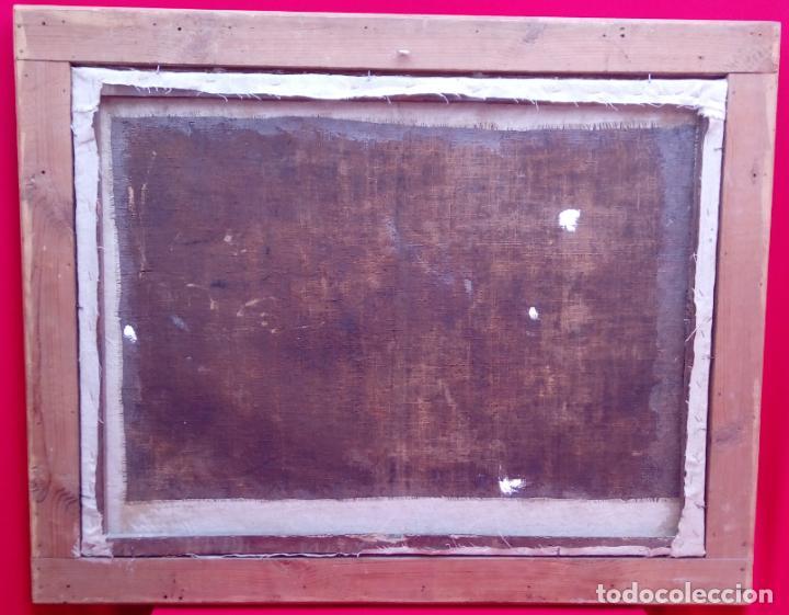 Arte: ÓLEO S/LIENZO ENMARCADO DE ÉPOCA -ADORACIÓN DE LOS PASTORES-. S. XVII -ESC. ITALIANA-. 98.5X79 CMS - Foto 7 - 164860898