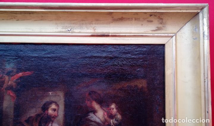 Arte: ÓLEO S/LIENZO ENMARCADO DE ÉPOCA -ADORACIÓN DE LOS PASTORES-. S. XVII -ESC. ITALIANA-. 98.5X79 CMS - Foto 8 - 164860898