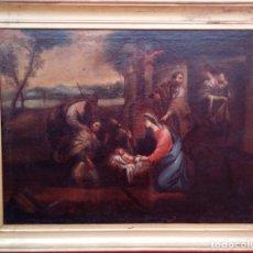 Arte: ÓLEO S/LIENZO ENMARCADO DE ÉPOCA -ADORACIÓN DE LOS PASTORES-. S. XVII -ESC. ITALIANA-. 98.5X79 CMS . Lote 164860898